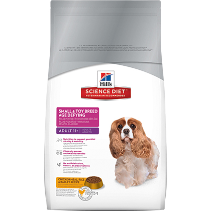 Hill's Science Diet Adult 11+ Small & Toy Breed Age Defying Dry Dog Food (Click for Larger Image)