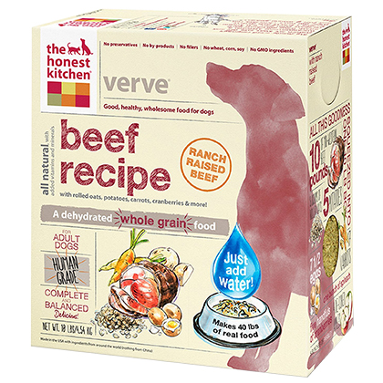 The Honest Kitchen Verve Whole Grain Beef Dehydrated Dog Food (Click for Larger Image)