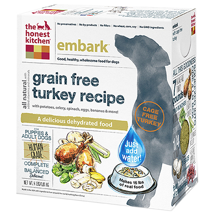 The Honest Kitchen Embark Grain Free Turkey Dehydrated Dog Food 4 lb by 1-800-PetMeds 61046
