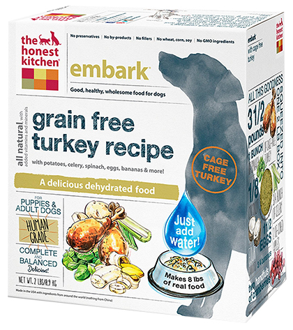 The Honest Kitchen Embark Grain Free Turkey Dehydrated Dog F
