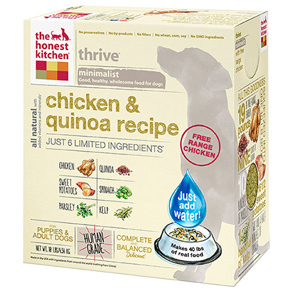 The Honest Kitchen Thrive Chicken & Quinoa Dehydrated Dog Food (Click for Larger Image)