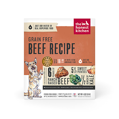 The Honest Kitchen Love Grain Free Beef Dehydrated Dog Food 4 lb by 1-800-PetMeds 61058