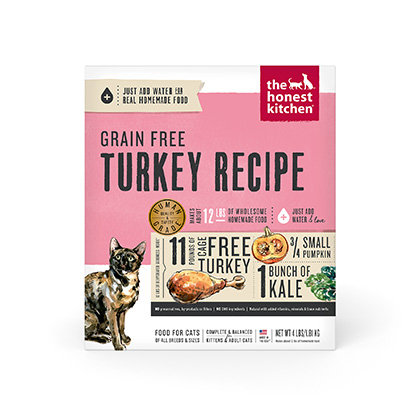 The Honest Kitchen Grace Grain Free Turkey Dehydrated Cat Food (Click for Larger Image)