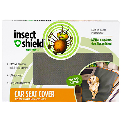 Insect Shield Insect Repellent Pet Car Seat Cover (Click for Larger Image)