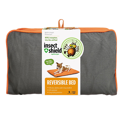 Insect Shield Insect Repellent Reversible Pet Bed (Click for Larger Image)