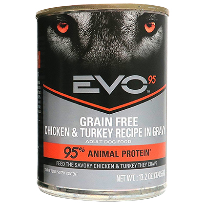 EVO 95 Adult Canned Dog Food (Click for Larger Image)