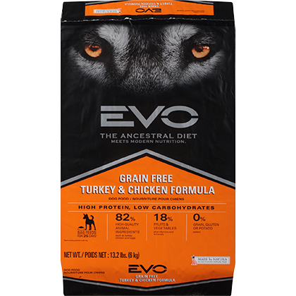 EVO Grain Free Formula Large Bites Dry Dog Food (Click for Larger Image)