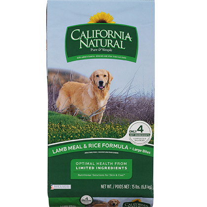 California Natural Limited Ingredient Diet Lamb Meal & Rice Large Bites Dry Dog Food (Click for Larger Image)