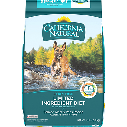 California Natural Limited Ingredient Diet Grain Free Salmon Meal & Peas Recipe Dry Dog Food (Click for Larger Image)
