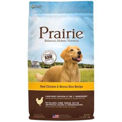 Nature's Variety Prairie Chicken Meal & Brown Rice Dry Dog Food (Click for Larger Image)