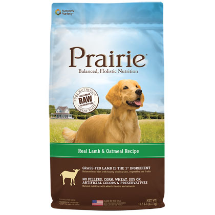 Nature's Variety Prairie Lamb & Oatmeal Dry Dog Food (Click for Larger Image)