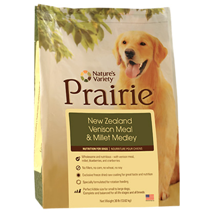 Nature's Variety Prairie Venison & Barley Dry Dog Food (Click for Larger Image)