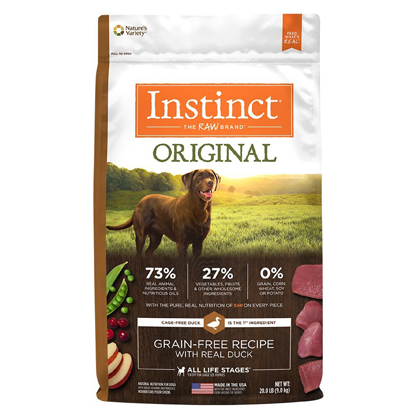 Nature's Variety Instinct Original Grain-Free Recipe with Real Duck Dry Dog Food  (Click for Larger Image)