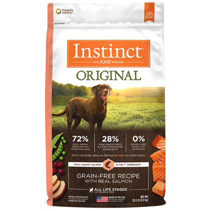 Nature's Variety Instinct Original Grain-Free Recipe with Real Salmon Dry Dog Food (Click for Larger Image)