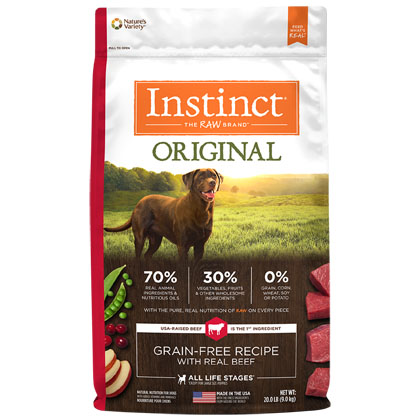 Nature's Variety Instinct Original Grain-Free Recipe with Real Beef Dry Dog Food (Click for Larger Image)
