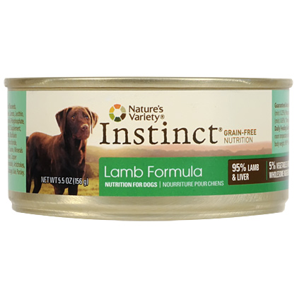 Nature's Variety Instinct Lamb Formula Canned Dog Food (Click for Larger Image)