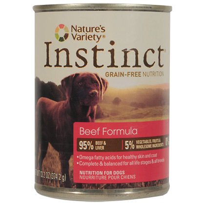 Nature's Variety Instinct Beef Formula Canned Dog Food (Click for Larger Image)