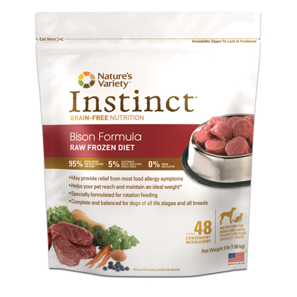 Instinct Raw Frozen Diet Bison (Click for Larger Image)