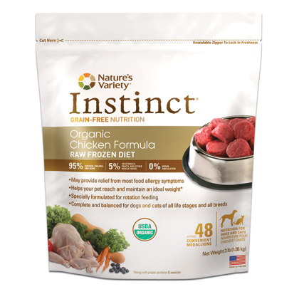 Instinct Raw Frozen Diet Organic Chicken (Click for Larger Image)