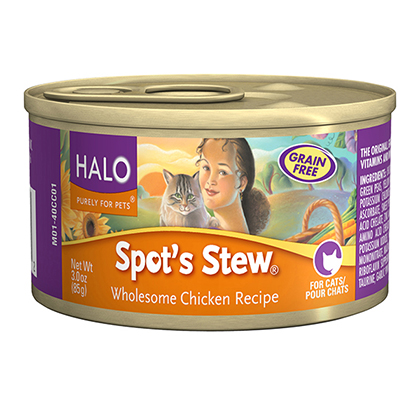 Halo Spot's Stew Canned Cat Food (Click for Larger Image)