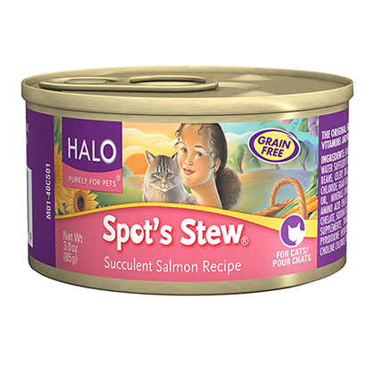 Halo Spot's Stew Canned Cat Food Succulent Salmon 12/3oz by