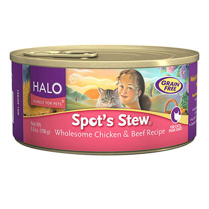 Halo Spot's Stew Canned Cat Food Wholesome Chicken & Beef 12/5.5oz by 1-800-PetMeds