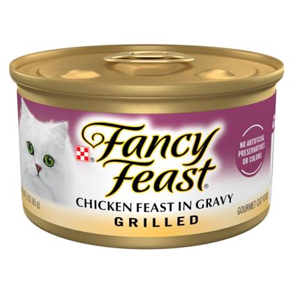 Fancy Feast Grilled Cat Food Chicken 24 x 3 oz by 1-800-PetM