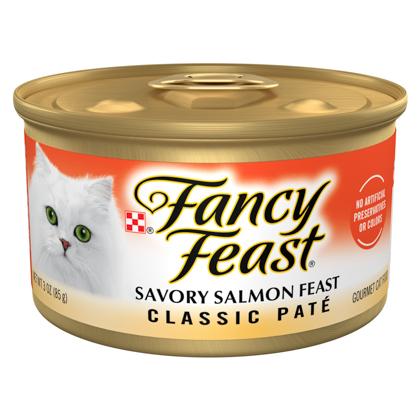 Purina Fancy Feast Classic Savory Salmon Feast Cat Food 3 oz