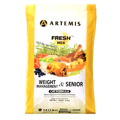 Artemis Weight Management Senior Cat Food  (Click for Larger Image)