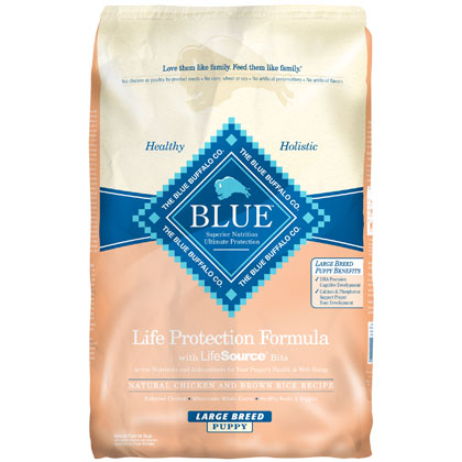 Blue Buffalo Chicken & Brown Rice Large Breed Puppy Food  (Click for Larger Image)