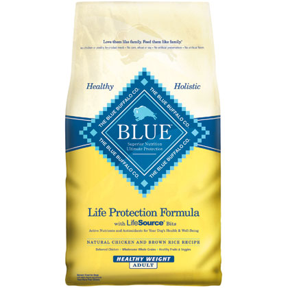 Blue Buffalo Healthy Weight Chicken & Brown Rice Adult Dog Food (Click for Larger Image)