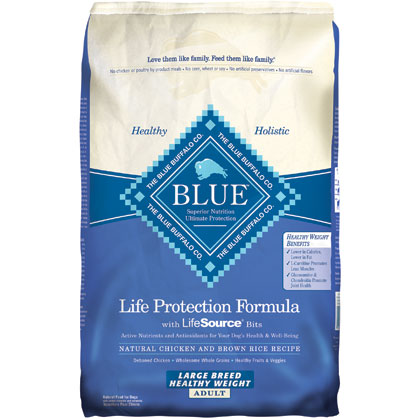 Blue Buffalo Healthy Weight Chicken & Brown Rice Large Breed Adult Dog Food (Click for Larger Image)