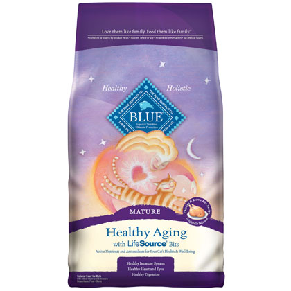 Blue Buffalo Healthy Aging Mature Dry Cat Food (Click for Larger Image)