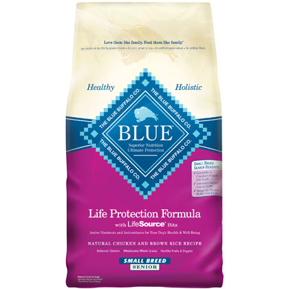 Blue Buffalo Senior Small Breed Dry Dog Food (Click for Larger Image)