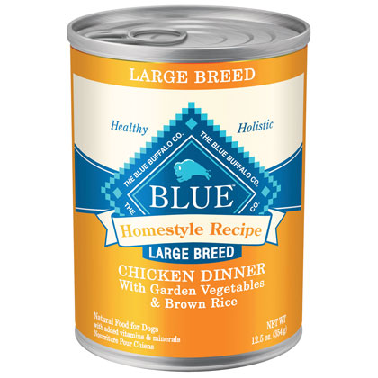 Blue Buffalo Homestyle Recipe Large Breed Canned Dog Food (Click for Larger Image)