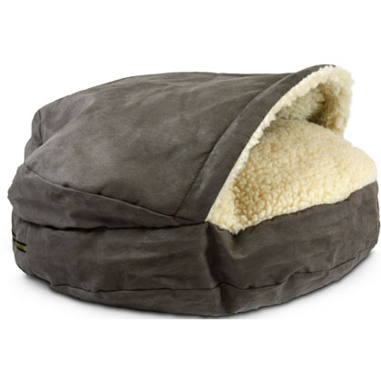 Luxury Orthopedic Cozy Cave Pet Bed - Large Dark Chocolate by Snoozer Pet Products
