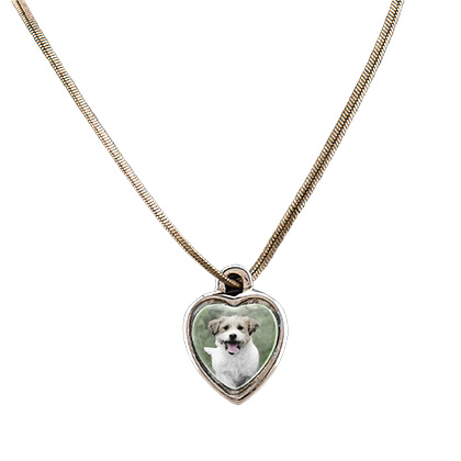Pet Photo Porcelain Heart Locket (Click for Larger Image)