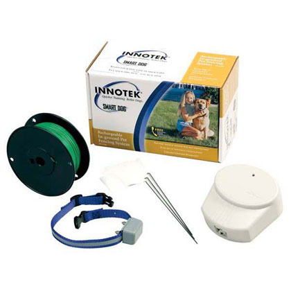 Innotek Rechargeable In-Ground Dog Fence & Collar (Click for Larger Image)