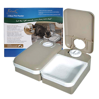 Eatwell (TM) 2-Meal Pet Feeder by PetSafe (R) (Click for Larger Image)