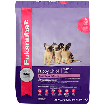 Eukanuba Small Breed Puppy Dry Dog Food (Click for Larger Image)