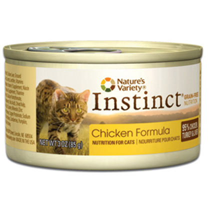 Nature's Variety Instinct Chicken Formula Canned Cat Food 24/3oz Cans