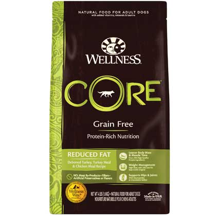 Wellness CORE Reduced Fat Formula Dry Dog Food 4lbs