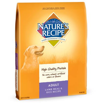 Nature's Recipe Adult Lamb Meal & Rice Dry Dog Food (Click for Larger Image)