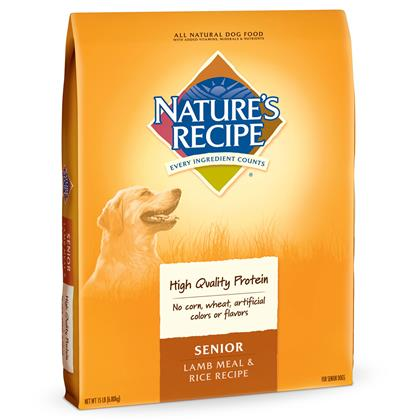 Nature's Recipe Senior Lamb Meal & Rice Dry Dog Food (Click for Larger Image)