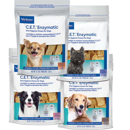 C.E.T. Enzymatic Oral Hygiene Chews for Dogs  (Click for Larger Image)