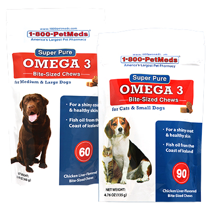 Super Pure Omega 3 Bite-Sized Chews (Click for Larger Image)