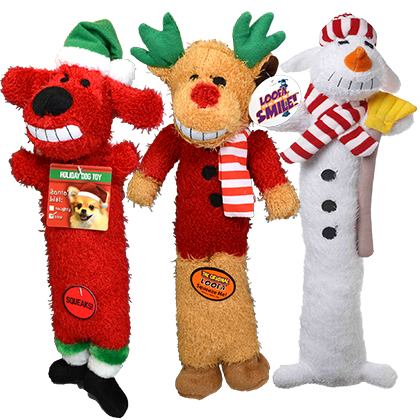 Multipet Loofa Holiday Dog Toys (Click for Larger Image)