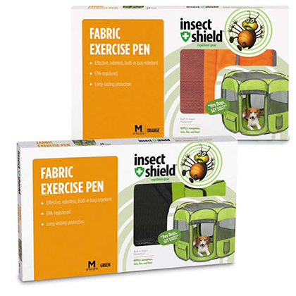Insect Shield Insect Repellent Fabric Exercise Pen (Click for Larger Image)