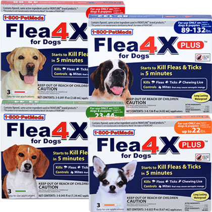 Flea4X PLUS for Dogs (Click for Larger Image)