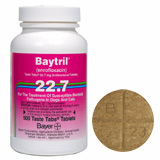 Find Baytril Taste Tabs 22.7 mg (per tablet) at PetMeds